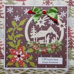 Kartka na Boże Narodzenie z szopką