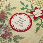 Kartka na Boże Narodzenie tradycyjna z boku