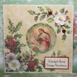 Kartka na Boże Narodzenie z Maryją i dzieciątkiem 1 przód