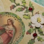 Kartka na Boże Narodzenie z Maryją i dzieciątkiem 1 z bliska