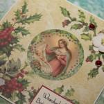Kartka na Boże Narodzenie z Maryją i dzieciątkiem 1 z boku