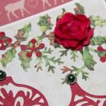 Kartka na Boże Narodzenie z bombkami z bliska