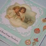 Kartka z Aniołami I z boku
