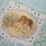 Kartka z Aniołami II z bliska