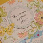 Kartka na zakończenie roku dla Pani Anetki z boku