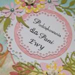 Kartka na zakończenie roku dla Pani Ewy z bliska