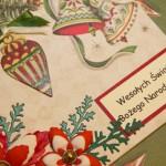 Kartka na Boże Narodzenie Wesołych Świąt 1 z bliska 1