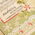 Kartka na Boże Narodzenie Wesołych Świąt z bliska 1