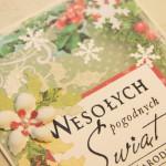 Kartka na Boże Narodzenie Wesołych Świąt z bliska