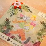 Kartka na Boże Narodzenie z Goofym z boku