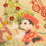 Kartka na Boże Narodzenie z Myszką Miki i Myszką Minnie z bliska 1