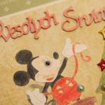 Kartka na Boże Narodzenie z Myszką Miki i Myszką Minnie z bliska