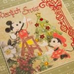 Kartka na Boże Narodzenie z Myszką Miki i Myszką Minnie z boku