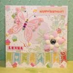 Kartka na 6 urodziny Leny przód