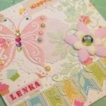 Kartka na 6 urodziny Leny z boku